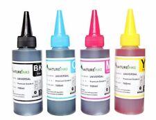 4 Universal Premium Printer Refill Ink dye Bottles for CISS Refillable Cartridge