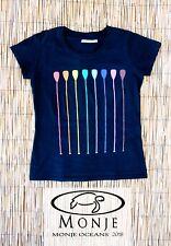 MonjeOceans Camiseta T-shirt Padde Surf Mujer Woman Negro