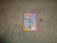 Girls pink and purple single light switch cover New