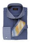 Dress Shirt by Steven Land Cutaway Collar French Cuff- Blue -DA523-BL