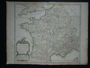 1790 Vaugondy Atlas Universel map  ANCIENT FRANCE - Gallia Antiqua