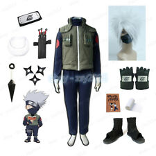 Naruto Ninja Hatake Kakashi Cosplay Costume Props Full Set Clothing X'mas Gift