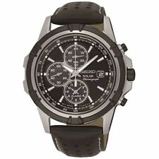 MENS BRAND NEW SEIKO SOLAR POWERED CHRONOGRAPH WATCH SSC147P2 WATCH £250