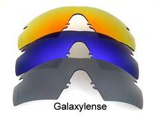 Galaxis Ersatzgläser für Oakley m-gestell 2.0 Streifen schwarz & blau & rot 3