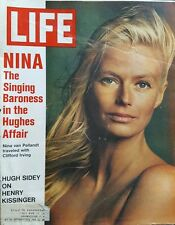 "Life Magazine ""Nina The Singing Baroness in the Hughes Affair""  Feb 11, 1972"