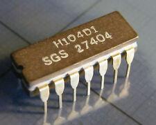 H104D1 dual 4-input NAND-gate, high level logic, SGS-Ates