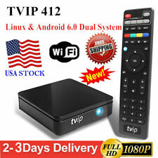 TVIP.412 TV Box Linux/Android Quad Core 1080P OTT 2.4GHz WiFi HDMI Media Player