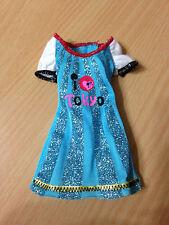 Barbie Doll Fashionistas Tokyo Glitter Blue Mini Dress Outfit Rare