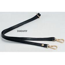 Replacement Genuine Leather Bag Shoulder Strap DIY Cross Body Adjustable 130cm
