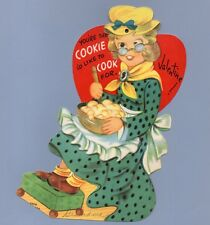 Vintage Valentine Card Valentine'S Day You're the Cookie Google-Eyes Mechanical
