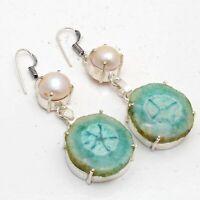 Solar Quartz,Biwa Pearl Ethnic Jewelry Handmade Earring ME-2062