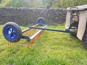 AGRI-FABS  ATV QUAD 4X4 Spring Tine Harrow, chain harrow Equestrian . Paddock