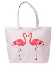 Dulces Flamingo en Love canvas Shopper Bolso ZIP rockabilly
