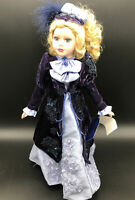"Brass Key Collectibles Chloe St. Germain Purple Dress 16"" Porcelain Doll ds1479"