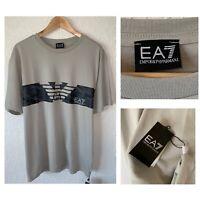 NWT Emporio Armani Men's Sz XXL/XL Gray Designer T-Shirt Polyester Blend