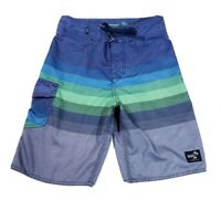 Vans Mens Boardshorts Size 25 Blue Green Gray Swim Trunks Surf