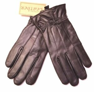 Thinsulate Isolant Women's Black Genuine Soft Leather Gloves Size S-M