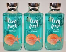 3 Bath & Body Work Live Fresh Seaside Breeze Shower Gel Body Wash 10 fl oz New