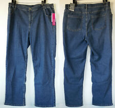 NEW NWT Fashion Bug Essentials Wilshire Blue Stretch Denim Straight Jeans 18/20W