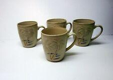 4 Pfaltzgraff Palm Coffee Mugs