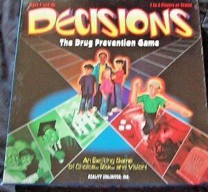 Decisions Game drug prevention 6 players or teams DARE tool  New with box damage