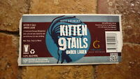 AUSTRALIAN BEER LABEL, GULF BREWERY SA, KITTEN 9 TALES AMBER LAGER