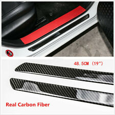 SENYAZON Canyon Decal Sticker Carbon Fibre Vinyl Reflective Car Door Sill Decoration Scuff Plate for GMC Canyon red