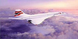 British Airways Concorde print Queen of the Skies signed by first female pilot.