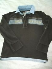 Orig. R 95 TH  -modernes interessantes Rugby Langarm-Polo  f. 6 Jahre /128