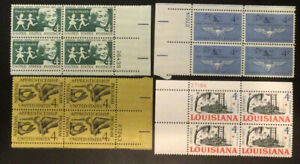 4 Different  4 Cent  MNH Plate Blocks...as Pictured... Lot 8