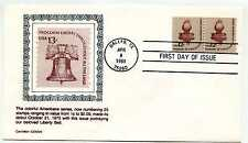 1816 12c Statue of Liberty Torch, coil line pair, Carrollton FDC