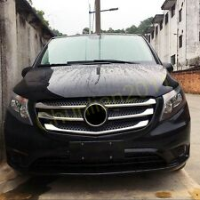 Chrome Front Center Grill Grid Trim for 2014-2017 Mercedes-Benz Vito abs 5*