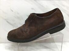Alden Unionmade Mens Brown Reverse Chamois Plain Toe Blucher Shoes Mens 11.5D