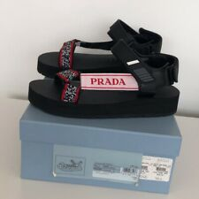 PRADA Logo Embossed Sandals Brand New in Box size IT 39.5