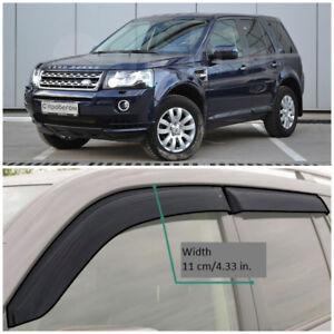 LE10307 Window Visors Vent Wide Deflectors For Land Rover Freelander 2007-2014