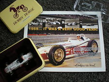 ROGER WARD SIGND PICTURE & 1962 INDIANAPOLIS 500 INDY #3 HOBBY HORSE DIECAST CAR