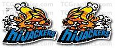 HiJacker Air Shocks Sticker Nostalgiar Decal Left & Right Pair 2.5x3.25""