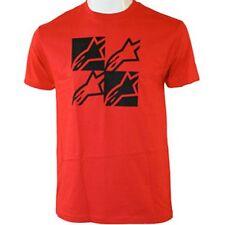 Alpinestars Four Square Tee (S) Red Black