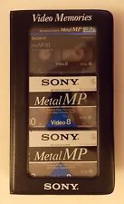 3 Sony Metal MP (P6-30MP) Video 8, 30-Minute 8mm Video Cassettes In Carry Case