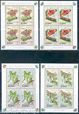 CONGO 2013 MOTHS SET OF FOUR PRINTED IN 4 MINIATURE SHEETS