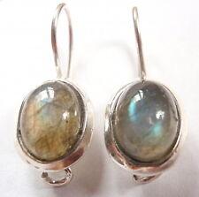 Labradorite 925 Sterling Silver Wire Back Earrings