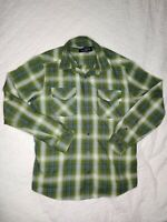 Marmot Plaid Mens Shirt Size XL Green Long Sleeves Button Up Front Dual Pockets