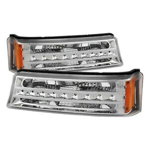 XTune 9027499 LED Bumper Lights, Chrome For 03-06 Chevy Silverado 3500 NEW