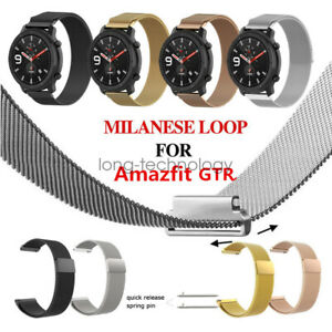 Stainless Steel Milanese Loop Wristband Watch Band Strap For Amazfit GTR 47mm 42