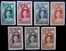 SUR NVPH 104 - 110 Jubileumzegels serie compleet prachtig ongebruikt CW 270,-