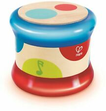 Hape BABY DRUM Pre-School Young Children Wooden Sensory Toy Game BN