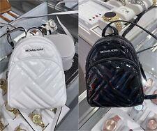 NWT Michael Kors Abbey XS Mini Backpack Crossbody Leather  Black/White