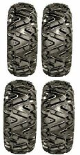 Full set of GBC Dirt Tamer (6ply) 27x9-12 and 27x11-12 ATV Tires (4) 6 PLY RATED