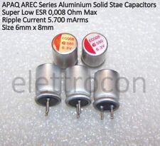 5pcs  Condensatore polimerico 560uF 6,3V ESR 8m ohm THT ±20/% 2000h TELSTORE