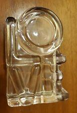 """1970s Glass LOVE SCULPTURE PAPERWEIGHT 5"""" x 3"""" x 1.5"""""""